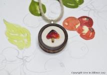 Blackening waxcap mushroom embroidery