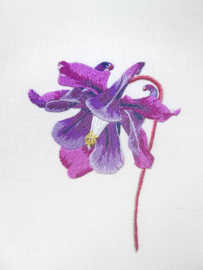 Columbine embroidery